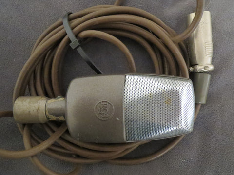RCA SK46 RARE VINTAGE RIBBON MICROPHONE WITH ATTACHED XLR CABLE & SWIVEL MOUNT