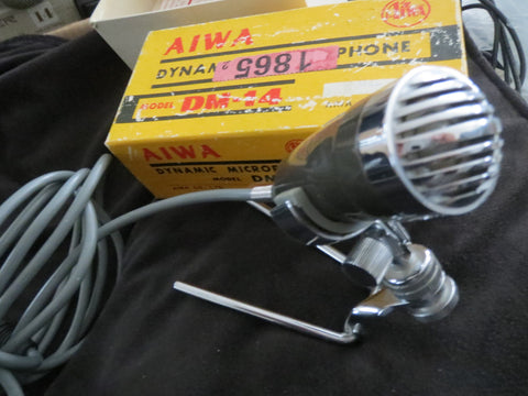AIWA DM14 VINTAGE DYNAMIC OMNIDIRECTIONAL MICROPHONE INCLUDING STAND & XLR CABLE