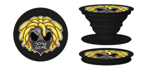 (NEW) Pop Sockets Black Base JoogSquad Logo.