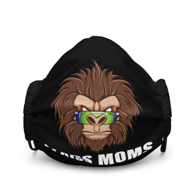 "Reusable ""I Kiss Moms"" Bigfoot face mask"