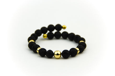 Endless Black Lava Bracelet