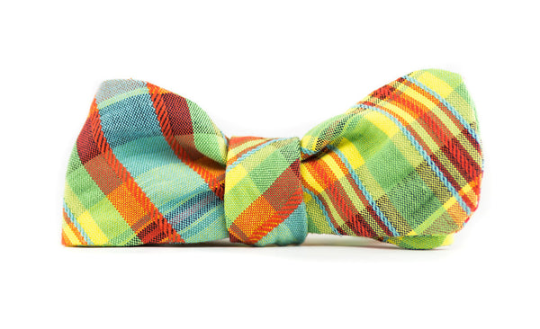 QP Collections Bow Tie in Spring Plaid