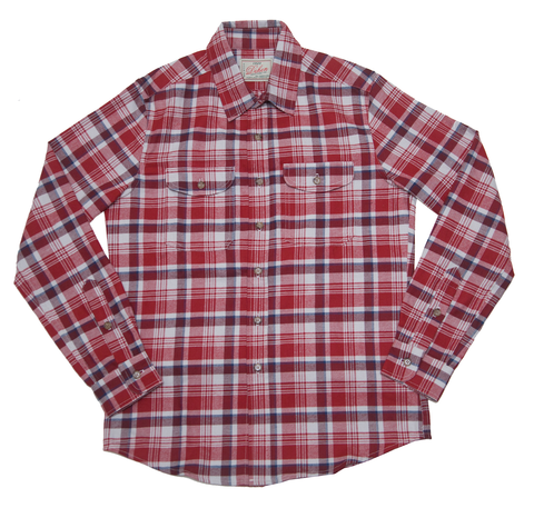 Dehen 1920 Long Sleeve Shirt in Red Plaid