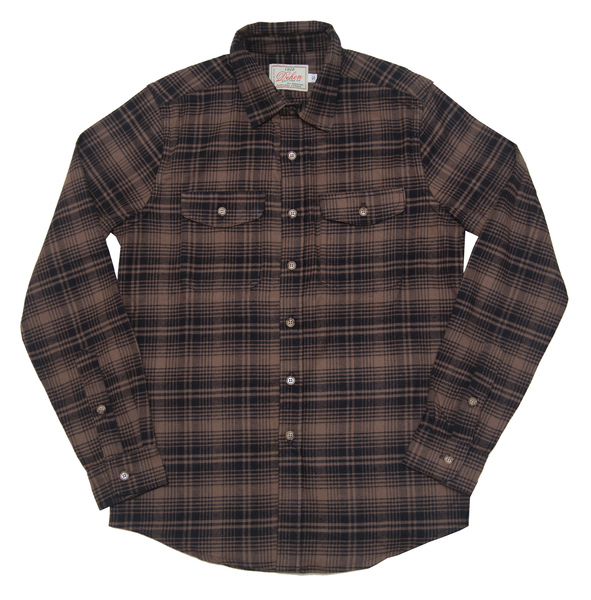 Dehen 1920 Long Sleeve Shirt in Brown Plaid