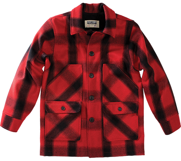 Stormy Kromer Mackinaw Coat in Red Plaid