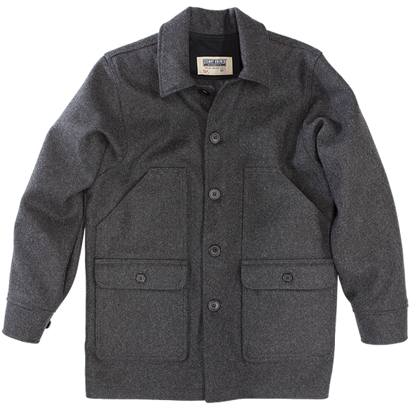 Stormy Kromer Mackinaw Coat in Charcoal