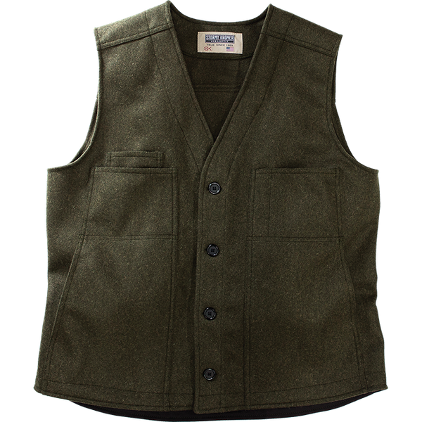 Stormy Kromer Wool Button Vest in Olive
