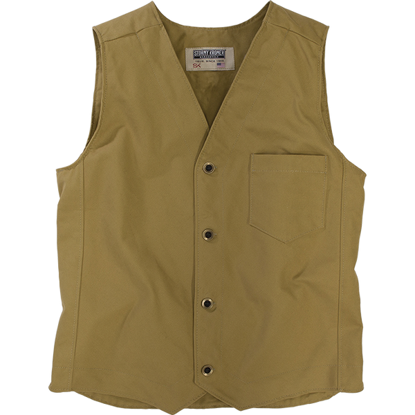 Stormy Kromer Brushman Vest in Wheat