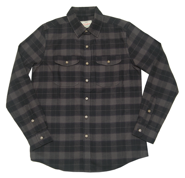 Dehen 1920 Long Sleeve Shirt in Black Plaid