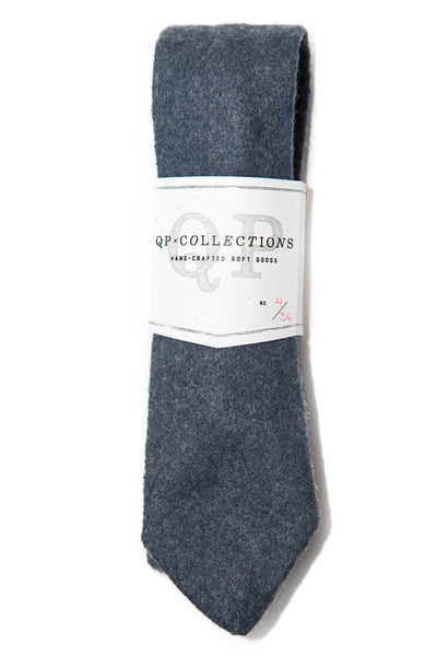 QP Collections Wool Felt Necktie in Charcoal
