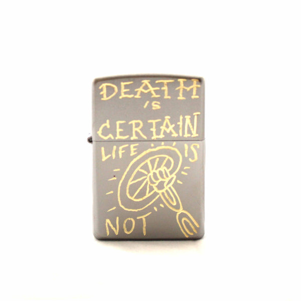 Farrow Company Engraved Zippo - Death is Certain