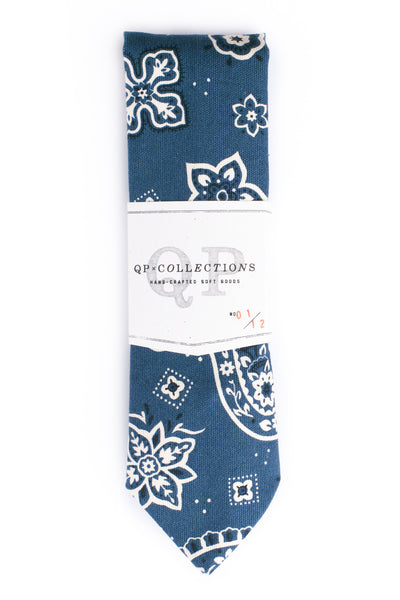 QP Collections Bandana Necktie in Blue