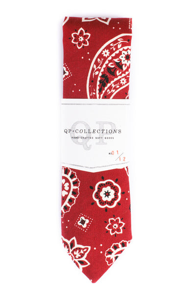 QP Collections Bandana Necktie in Red