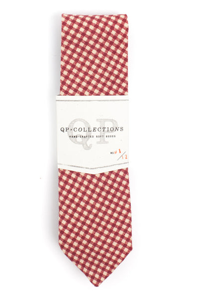 QP Collections Canvas Necktie in Red Gingham