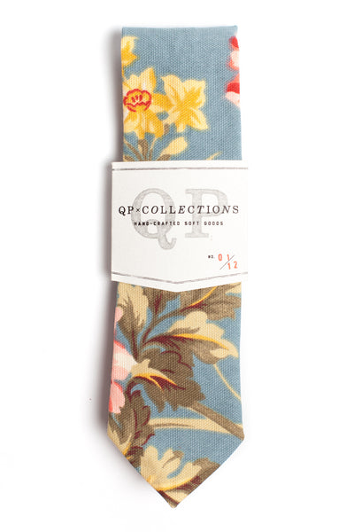 QP Collections Necktie in Sky Blue Floral