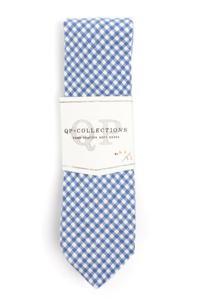 QP Collections Canvas Necktie in Blue Gingham