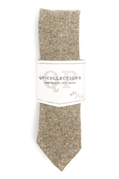QP Collections Wool Tweed Necktie in Balmoral