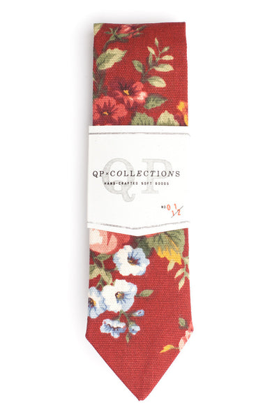 QP Collections Necktie in Floral Rouge