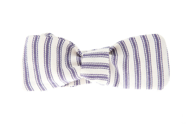 QP Collections Bow Tie in Blue Stripe