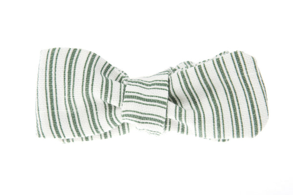 QP Collections Bow Tie in Green Stripe