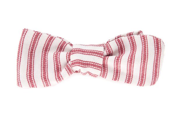 QP Collections Bow Tie in Red Stripe