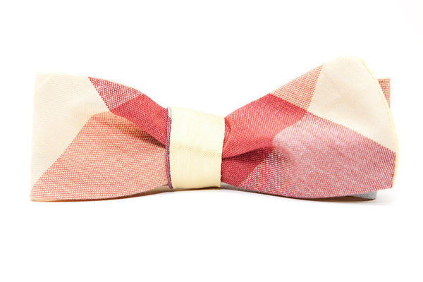 QP Collections Reversible Bow Tie in Yellow Check
