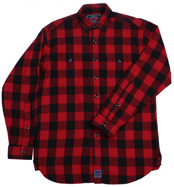 Steam Horse Dry Goods Flannel Shirt in Buffalo Plaid