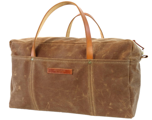 Red Clouds Collective 18oz Waxed Canvas Duffle Bag in Brush Brown