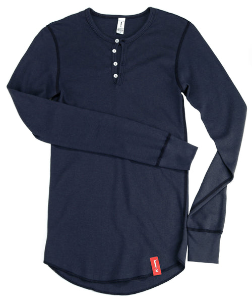 Steam Horse Dry Goods Henley in Navy