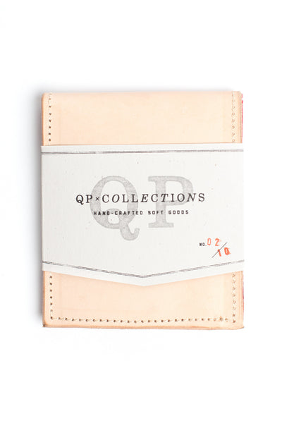 QP Collections Men's Leather Wallet in Tan and Bandana Accent