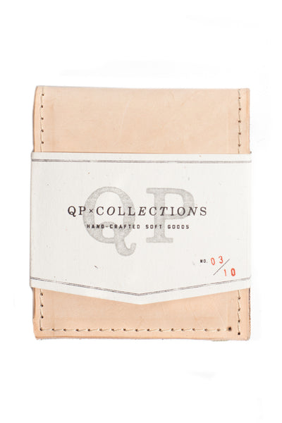 QP Collections Men's Leather Wallet in Tan and Floral Accent