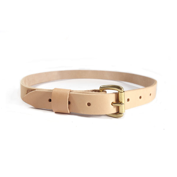 "Red Clouds Collective Women's Classic 1"" Wide Leather Belt in Natural"