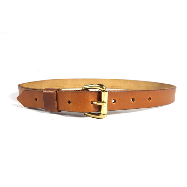 "Red Clouds Collective Women's Classic 1"" Wide Leather Belt in Saddle Tan"