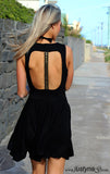 WANDER DRESS in BLACK & GOLD