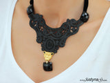 MYSTIQUE NECKPIECE & EARRINGS SET
