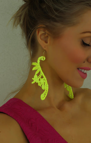 CROCHET NEON EARRINGS