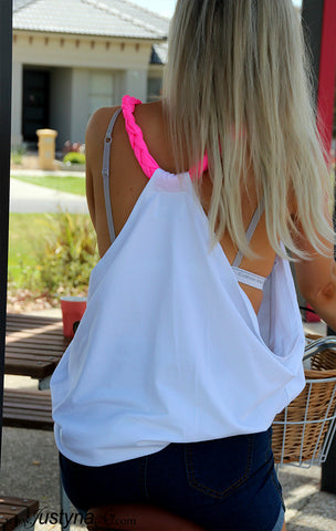 Pink Braid Lounge Tank