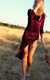 PLUM HIGH THIGH DRESS