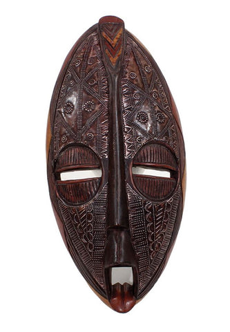 Genuine African  Traditional Wooden Ghana Fang Mask