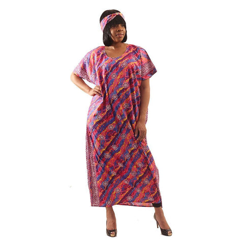 African Style Paint Stripe Kaftan Delivery In About  8 Days
