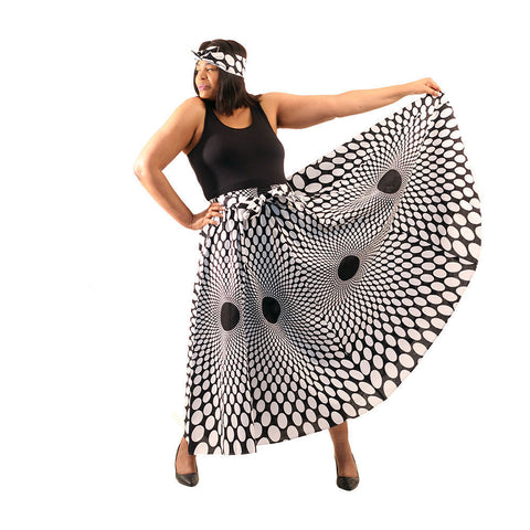 Polka Dot Maxi Skirt Delivery In About 8 Days