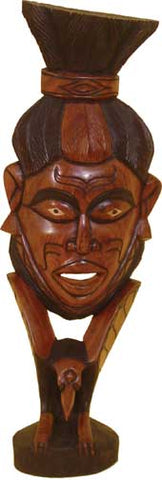 "One Senegalise Mahogany Guro Mask 27-31"" Delivery In About 8 Days"