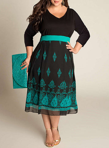 Plus Size Midi Teal Dress, Delivery In About 16 Days.