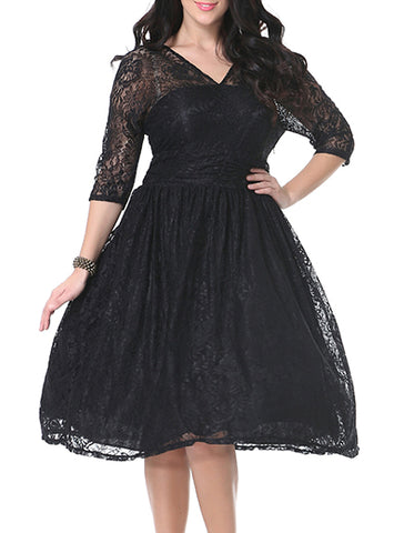 Plus Size Lace Midi Dress, Delivery In About 16 Days.