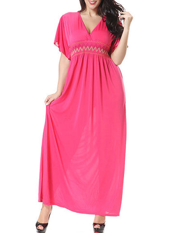 Cotton Knit Plus Size Maxi Dress, Delivery In About 16 Days.