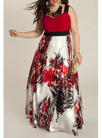 Plus Size Floral Print Maxi Dress, Delivery In About 16 Days.