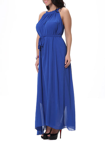Plus Size Halter Maxi Dress, Delivery In About 16 Days