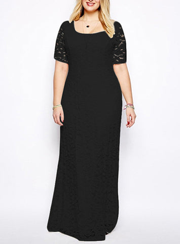 Lace Cocktail Fashion Maxi Dress, Delivery In About 16 Days.