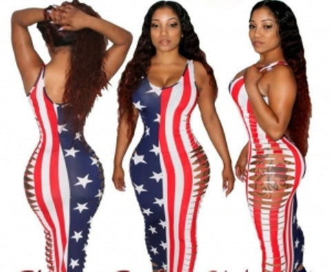 American Flag Bodycon Dress, Delivery In About 14 Days.