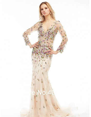 Elegant Formal Long Sleeve Evening Prom Dress, 10% Off And Free International Shipping.